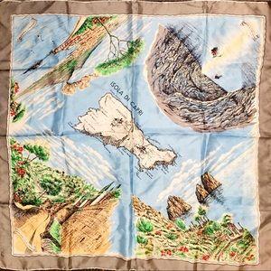 Pura Seta silk Capri scarf, made in Italy
